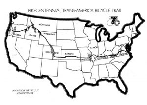 Bikecentennial Trans-America Bicycle Trail Map